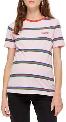 Topshop MATERNITY 'Love' Slogan Striped T-Shirt