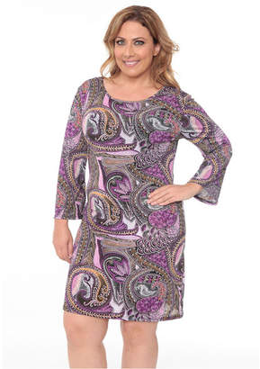 White Mark Women Plus Size Joanna Dress