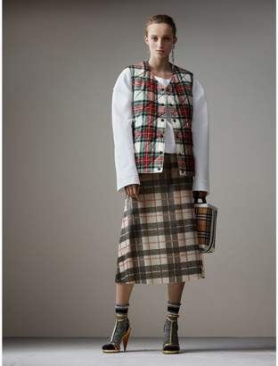 Burberry Reversible Tartan Quilted Cotton Gilet