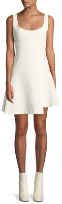 Cinq à Sept Annette Scoop-Neck Sleeveless Fit-and-Flare Mini Dress