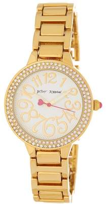 Betsey Johnson Women's Crystal Embellished Bracelet Watch, 32mm