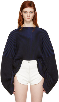 Y/Project Blue Oversized Crew Pullover $510 thestylecure.com
