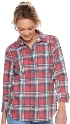 So Juniors' SO Plaid Button Down Shirt