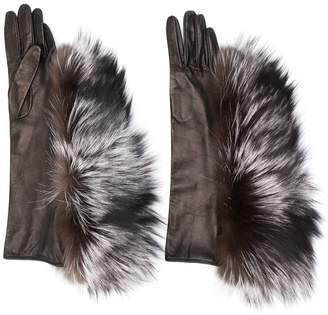 Maison Margiela fur trimmed gloves