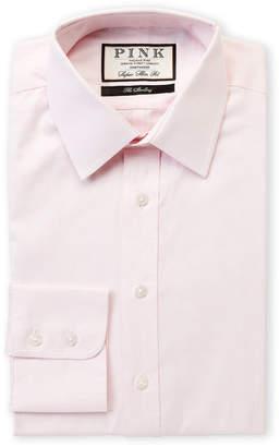 Thomas Pink Super Slim Fit Long Sleeve Dress Shirt