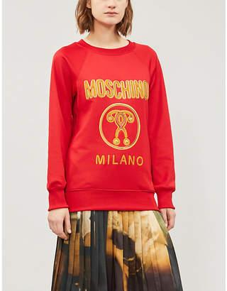 Moschino Logo-embroidered jersey sweatshirt