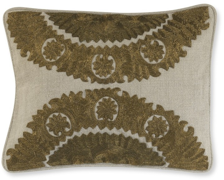 Williams-Sonoma Sunflower Zardozi Pillow Cover