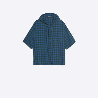 Balenciaga Short sleeves check printed zipped shirt