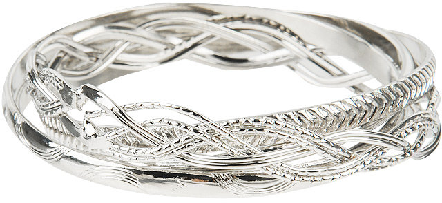 Forever 21 Interlocked Twisted Bangles
