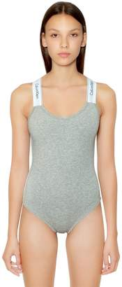 Calvin Klein Underwear Unlined Cotton Blend Jersey Bodysuit