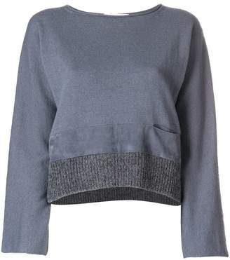 Fabiana Filippi contrast hem knitted top