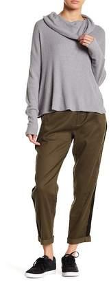 Lucky Brand High Waist Cropped Linen Blend Pants