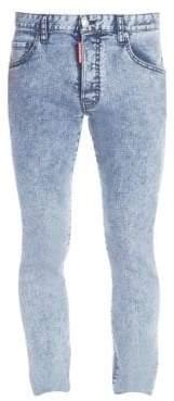 DSQUARED2 Men's Acid Wash Skater Jeans - Blue - Size 44 (28)