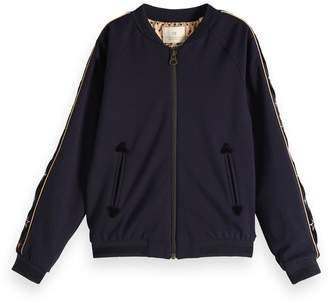 Scotch & Soda Embroidered Panel Bomber Jacket