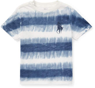 Ralph Lauren Childrenswear Tie-Dye Short-Sleeve Knit Top, Size 5-7