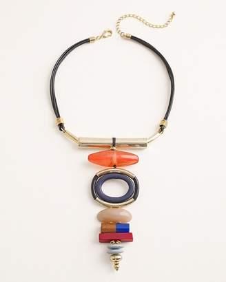 Chico's Chicos Multi-Colored Geometric Bib Necklace