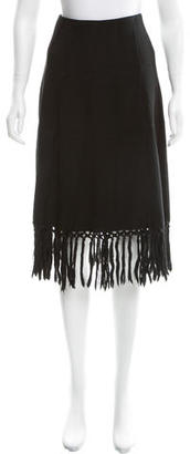 Jean Paul Gaultier Wool Midi Skirt $85 thestylecure.com