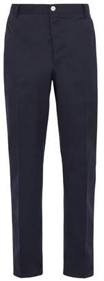 Thom Browne Deconstructed Tri Colour Stripe Chino Trousers - Mens - Navy