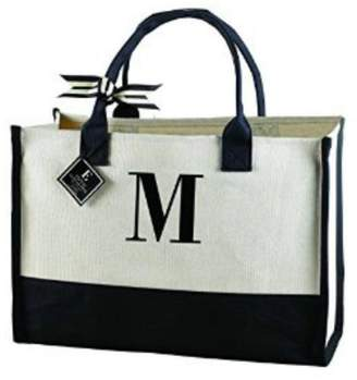 Mud Pie Initial Canvas Tote $25 thestylecure.com