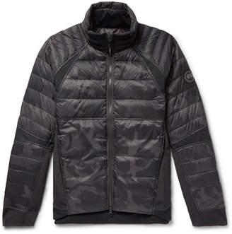 Canada Goose HyBridge Perren Camouflage-Print Quilted Nylon Down Jacket - Black
