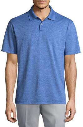 Haggar Short Sleeve Knit Polo Shirt-Big and Tall