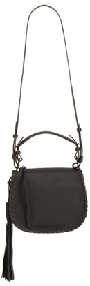 Allsaints Mori Leather Crossbody Bag - Black $298 thestylecure.com