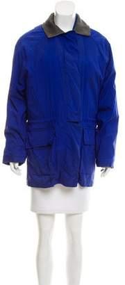 Loro Piana Leather-Accented Short Coat