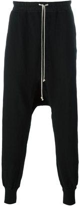 Rick Owens DRKSHDW drop-crotch track pants $616 thestylecure.com
