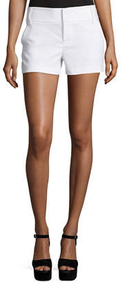 Alice + Olivia Classic Cady Shorts, White