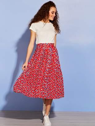 f5e70c029 Shein Wide Waist Band Pleated Skirt