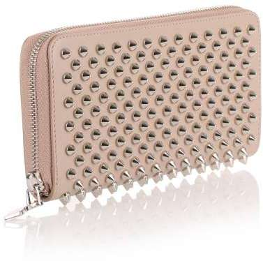 Christian Louboutin  Christian Louboutin Panettone cashmere silver spikes wallet