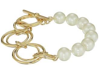 Lauren Ralph Lauren Pearl Update Metal Link Toggle Bracelet Bracelet