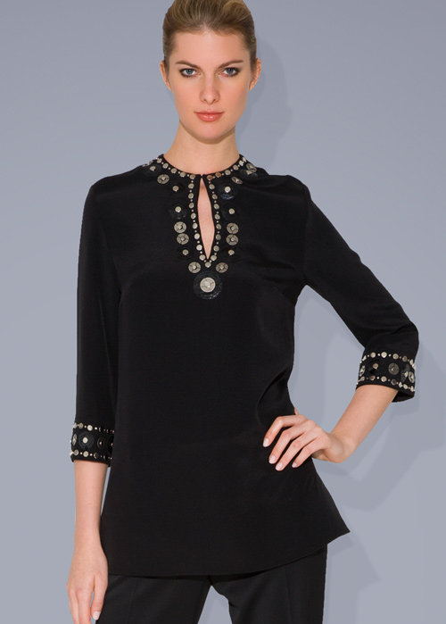 Embellished Silk Tunic