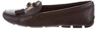 Prada Pointed-Toe Driving Loafers