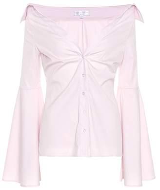 Caroline Constas Persephone cotton-blend top