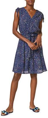 Esprit Confetti-Print Faux Wrap Dress