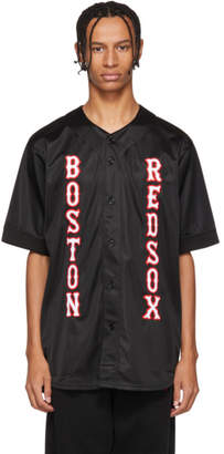 Marcelo Burlon County of Milan Black Boston Red Sox Edition Applique Shirt