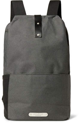 Brooks England - Dalston Leather-Trimmed Canvas Backpack - Men - Charcoal