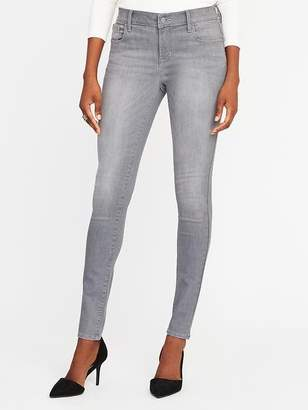 Old Navy Mid-Rise Built-In-Sculpt Gray Rockstar Jeans for Women