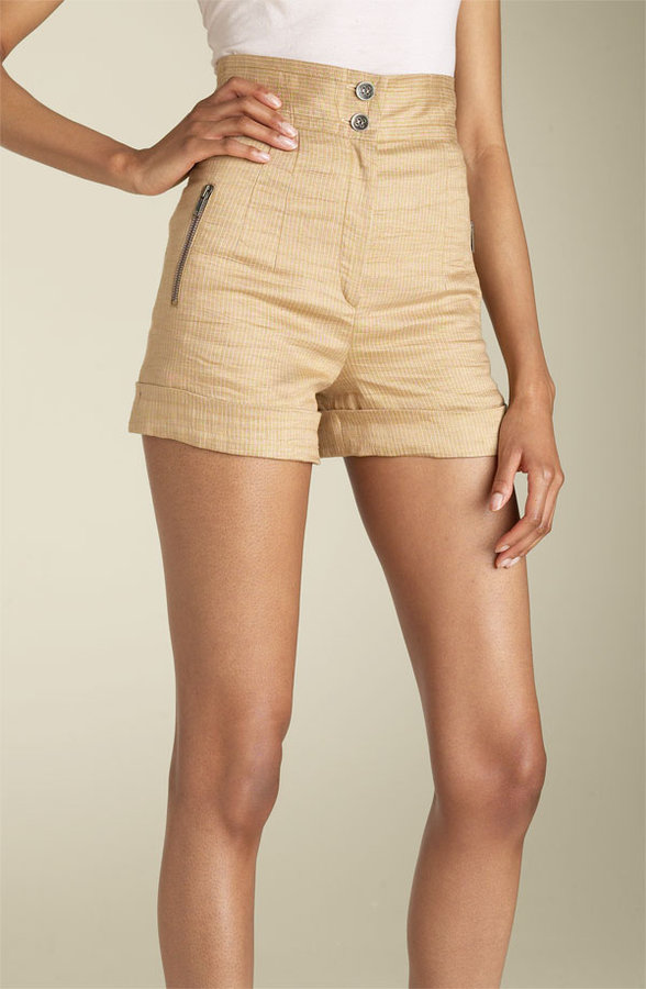 Plenty by Tracy Reese High Waist Cuff Shorts