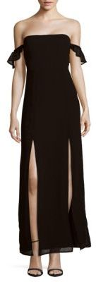 Off-The-Shoulder Front-Slit Gown $108 thestylecure.com