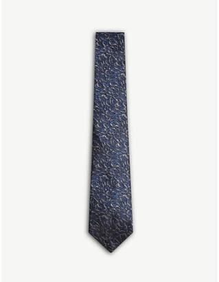 Lanvin Teardrop pattern silk tie