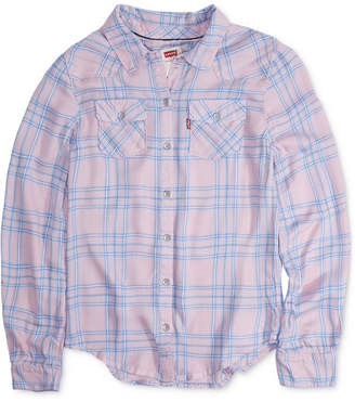 Levi's Big Girls Cotton Plaid Shirt