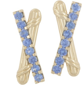 Peter Thomas Roth 18K Gold & Sapphire Criss-Cross Earrings