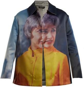 Undercover Cindy-print reversible satin jacket