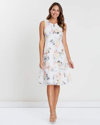 Wallis Blush Bloom Tiered Dress