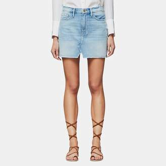 Frame Le Mini Split Front Denim Skirt