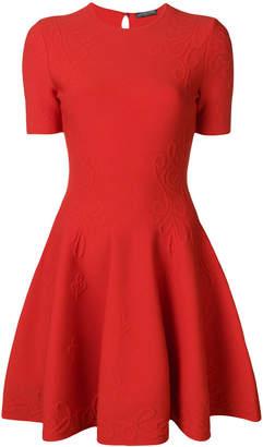 Alexander McQueen textured skater dress