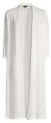Eileen Fisher Women's Open Linen Blend Cardigan