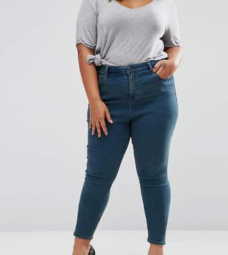 Asos High Waist Ridley Skinny Jeans In London Blue Cynthia Wash